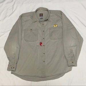 M&M's Red & Yellow Planet Mars '96 Collared Shirt